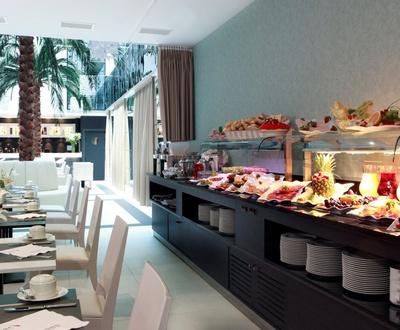 Full buffet breakfast Nuevo Boston Hotel
